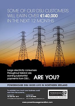 EIRGRID - PowerHouse GO LIVE as the first DSU operator in NI rewarding businesses like yours for their ability to reduce demand..
